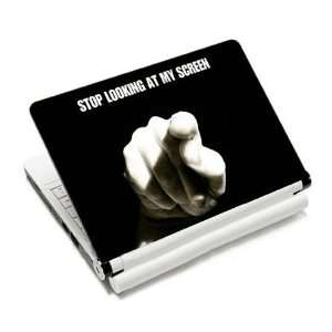 Stop Funny Warning Laptop Protective Skin Cover Sticker