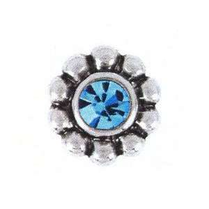 Bauble LuLu Sparkling Aqua Blue Crystal Accented Ring Topper European