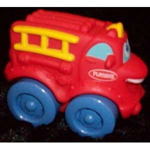Playskool 4 Mini Soft Spongy Red Fire Truck Toy Toys & Games