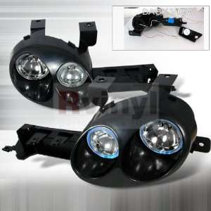 Dodge Neon 1995 1996 1997 1998 1999 Euro Headlights   Black (Paintable