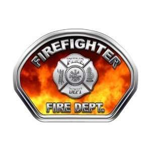 Firefighter Fire Helmet Front Face Firefighter Real Fire