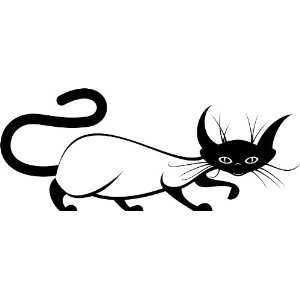 Cat Design   Removable Vinyl Wall Decal   24 Colors Available (Baby