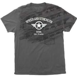 Speed and Strength Call to Arms Mens Premium Casual Shirt