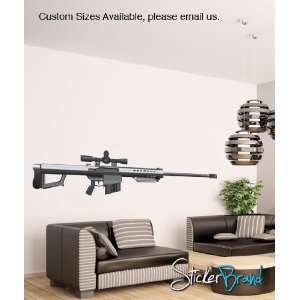 Vinyl Wall Decal Sticker 50 Cal Sniper Gun JH171