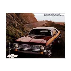 1971 CHEVROLET NOVA Sales Brochure Literature Book