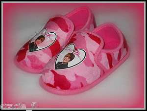 NEW Girls JUSTIN BIEBER Camo House Slippers Shoes Sizes 11/12 ~ 13/1