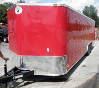NEW 8.5X 24 ENCLOSED MOTORCYCLE TRAILER