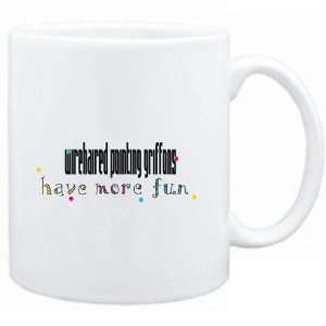 Mug White Wirehaired Pointing Griffons have more fun Dogs