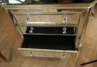 MIRROR ART DECO CHEST DRAWERS CABINET COMMODE FURNITURE