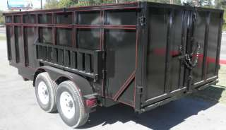 NEW 7 X 16 HYDRAULIC DUMP ROOFING UTILITY TRAILER RAMPS
