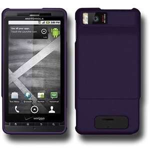 Quality Amzer Rubberized Purple Snap Case For Motorola Milestone X