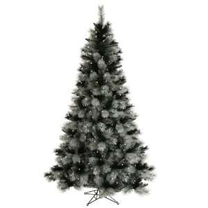 12 Pre Lit Black Ash Artificial Christmas Tree   Clear