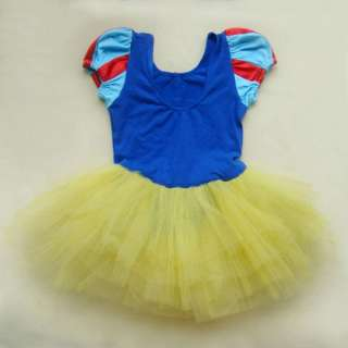 Halloween Disney Princess Snow White Girls Kids Pary Costume Ballet