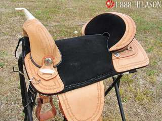 AW109 Hilason Treeless Western Trail Barrel Saddle 18