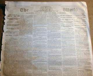 1862 Civil War newspaper BATTLE of FORT DONELSON Tennessee   US Grant