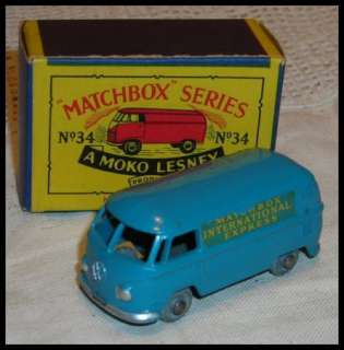 matchbox moko lesney #34 VOLKSWAGEN vw MIRCO BUS express 50s boxed