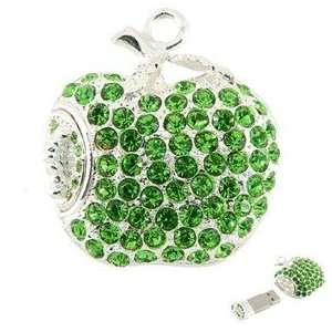 8GB Apple Shape USB Flash Drive with Glaring Rhinestone