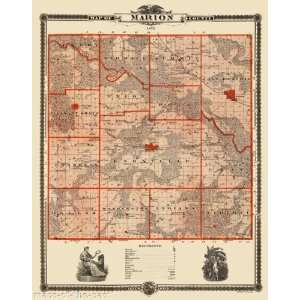 MARION COUNTY IOWA (IA) MAP BY LUCAS 1875