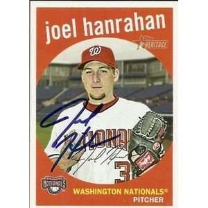 Joel Hanrahan Signed Nationals 2008 Topps Heritage Card
