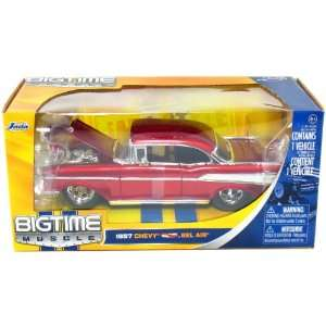 1957 Chevy Bel Air Hard Top 1/24 Scale Bigtime Muscle (Red)