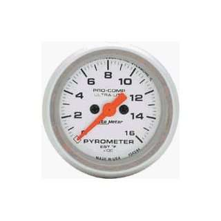 Auto Meter Ultra Lite 2 1/16 Full Sweep Electric Gauge Pyrometer Kit