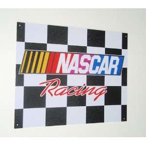 Nascar Racing Metal Sign