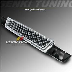 ABS Lower Bumper Front Hood Chrome Mesh Lower Grill Grille 07 08