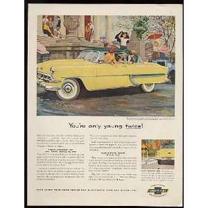 1954 Yellow Chevy Bel Air Sport Coupe Print Ad (10944