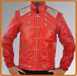 Michael Jackson Beat IT Leather Jacket Classic Vintage in 4 Colors