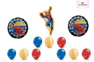 Spiderman Super Hero Happy Birthday Party Balloon Set