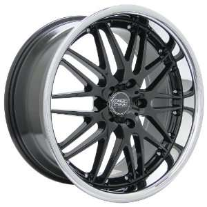 Racing Raven (Series 523) Black with Chrome Lip   20 x 8.5 Inch Wheel