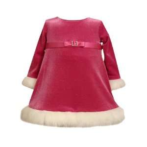 Bonnie Jean Baby/Infant Girls 12M 24M FUSCHIA PINK GLITTER