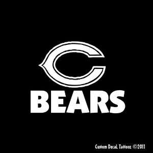 Chicago Bears Car Window Decal Sticker White 6