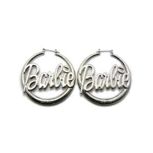 Silver Nicki Minaj Barbie Sleek Hoop Earring Jewelry