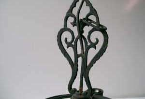 Black Cast Iron Hanging Ceiling Light Fixture