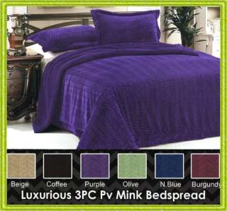 Pcs Super Soft Micromink Sherpa Fur Throw Blanket Bedspread Full