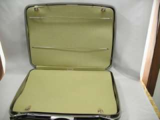 vtg NOS Samsonite Silhouette Two Suiter Suitcase Deep Olive Hard Side
