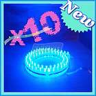 24 LED Strip Car Lights Flexible Grill Light Blue