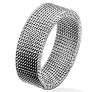 8MM Polished Stainless Steel Wedding Band Ring For Women with Flexible