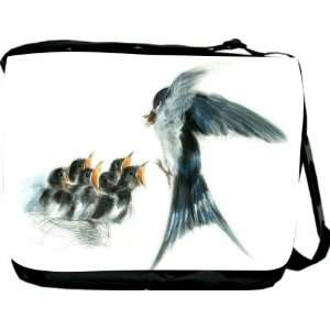 Rikki KnightTM Swallow Bird with Babies Messenger Bag   Book