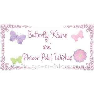 petal wishes Removable Wall Vinyl Sticker   stickers art sayings