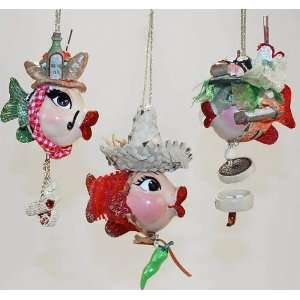 Takeout food Kissing fish Christmas ornament