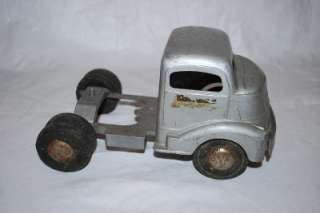 50s Smith Miller Smitty Toys Pressed Steel Truck Fruehauf Trailer