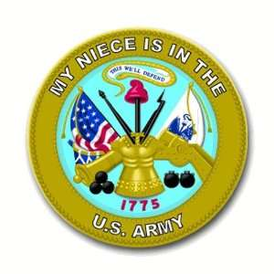 States Army My Niece is in the Army Seal Decal Sticker 3.8 6 pack