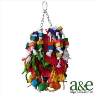 Co. HB227 Bush of Ropes, Blocks, Leather Bird Toy