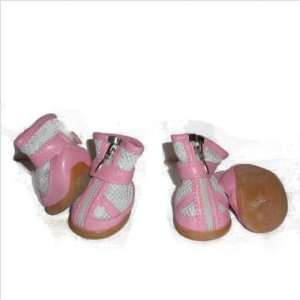 Mesh Spring Dog Shoes   Candy Wrapper in White and Pink