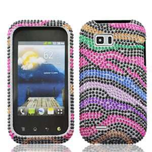 LG myTouch Q C800 C 800 Cell Phone Full Crystals Diamonds