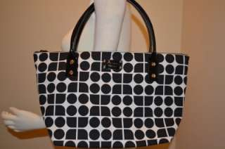 KATE SPADE NWT Glenmoor Noel Sophie Tote Bag Black White NEW