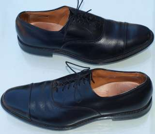 Allen Edmonds Mens Black Cap Toe Shoes size 12