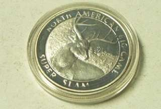 NORTH AMERICAN HUNTING CLUB 1 Troy Ounce .999 FINE SILVER TOKEN COIN
